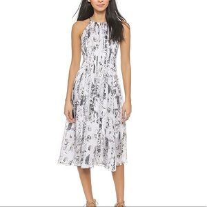 Club Monaco Dauphine Dress Silk Floral Print, 00